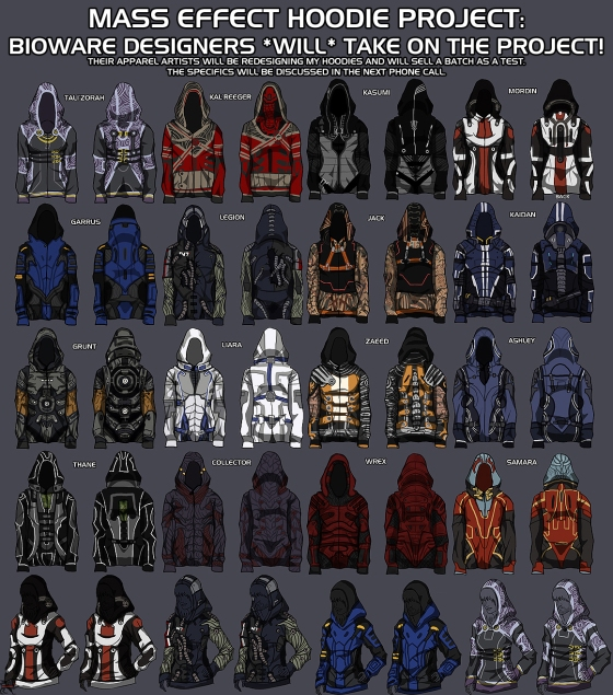 Mass Effect hoodies