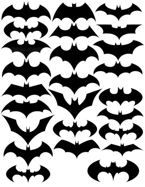 25 variations on the Bat symbol